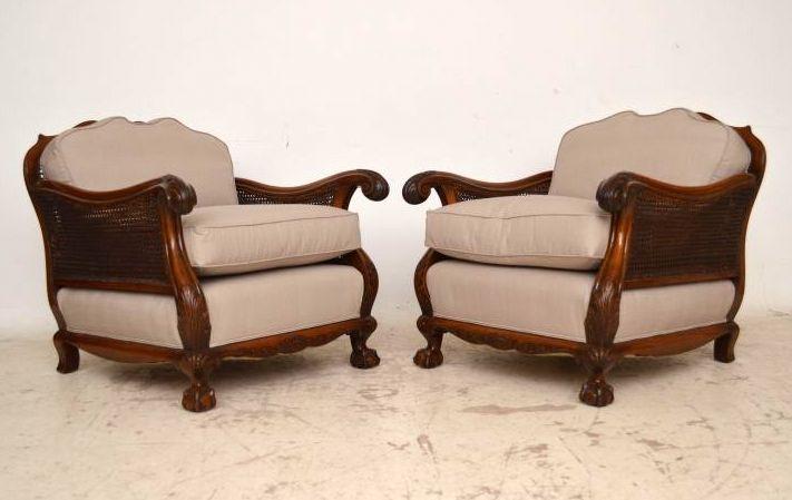 antike berg re sessel aus nussbaum. Black Bedroom Furniture Sets. Home Design Ideas
