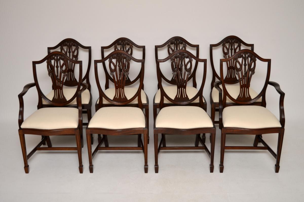 antike mahagoni esszimmerst hle 8er set. Black Bedroom Furniture Sets. Home Design Ideas