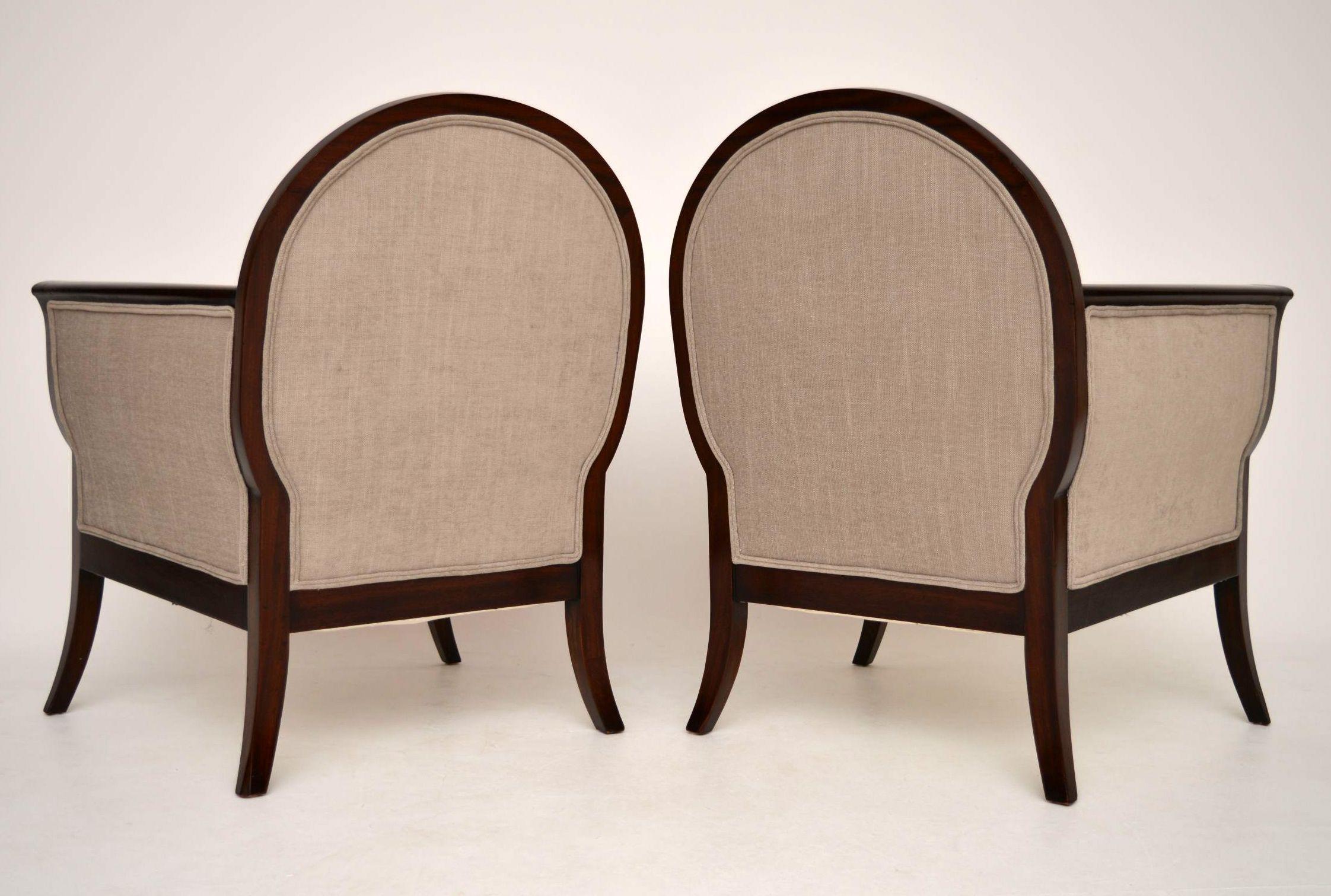 ein paar antike schwedische mahagoni sessel. Black Bedroom Furniture Sets. Home Design Ideas