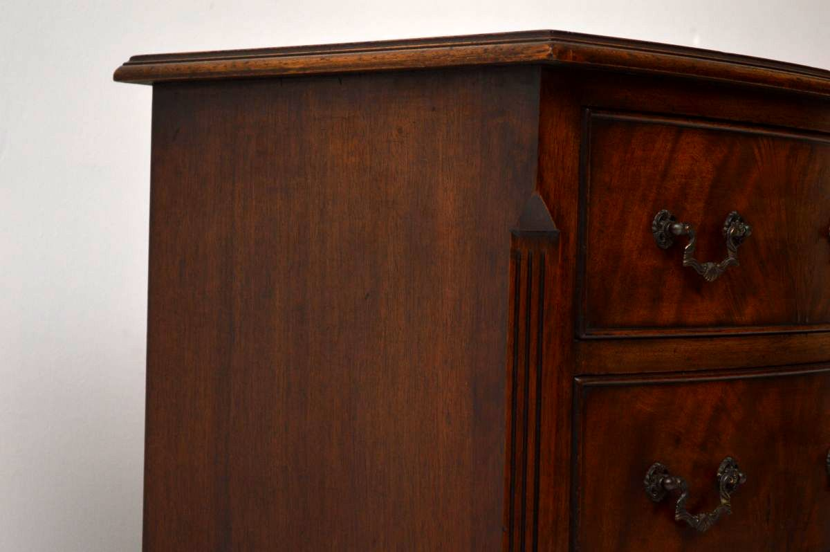 antike kommode flamme mahagoni kommode mit messinggriffen wohnzimmer kommode. Black Bedroom Furniture Sets. Home Design Ideas