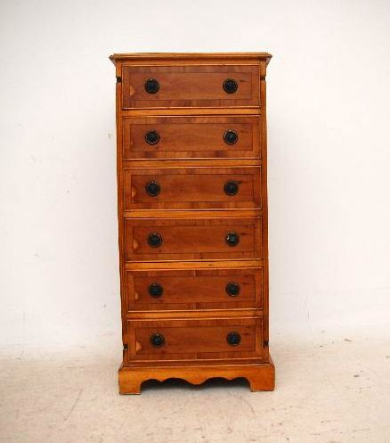 Schmale eiben kommode yew wood chest of drawers for Sehr schmale kommode
