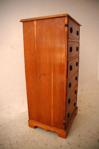 schmale eiben kommode yew wood chest of drawers. Black Bedroom Furniture Sets. Home Design Ideas