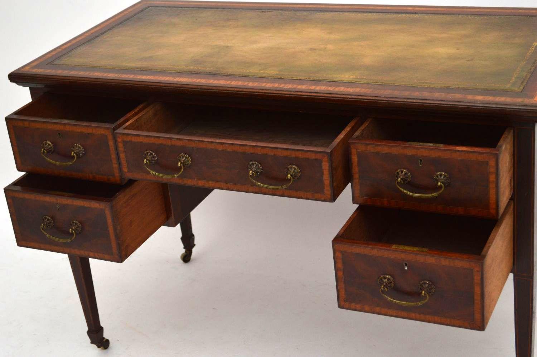 sch ner antiker edwardian schreibtisch. Black Bedroom Furniture Sets. Home Design Ideas