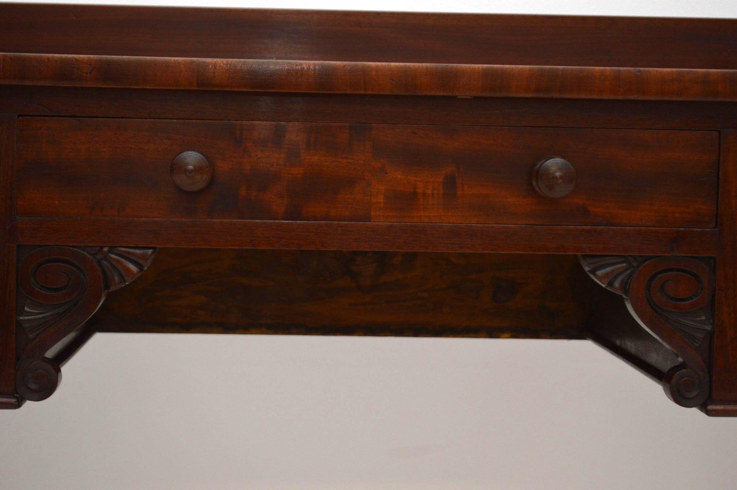 antiker william iv mahagoni schreibtisch b rotisch aus. Black Bedroom Furniture Sets. Home Design Ideas