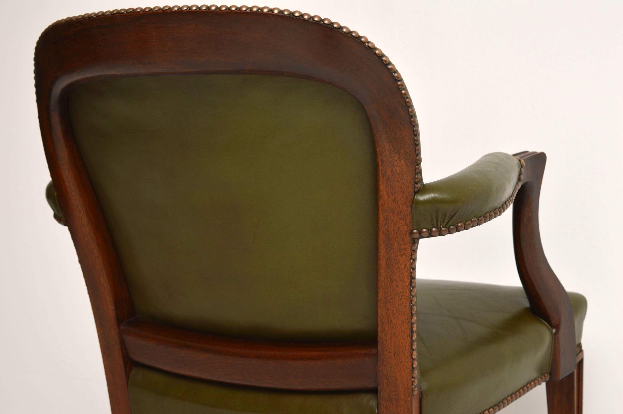 Leder Schreibtischstuhl antiker mahagoni und leder schreibtischstuhl sessel
