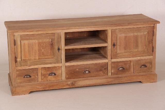 sch nes tv board aus teakholz. Black Bedroom Furniture Sets. Home Design Ideas