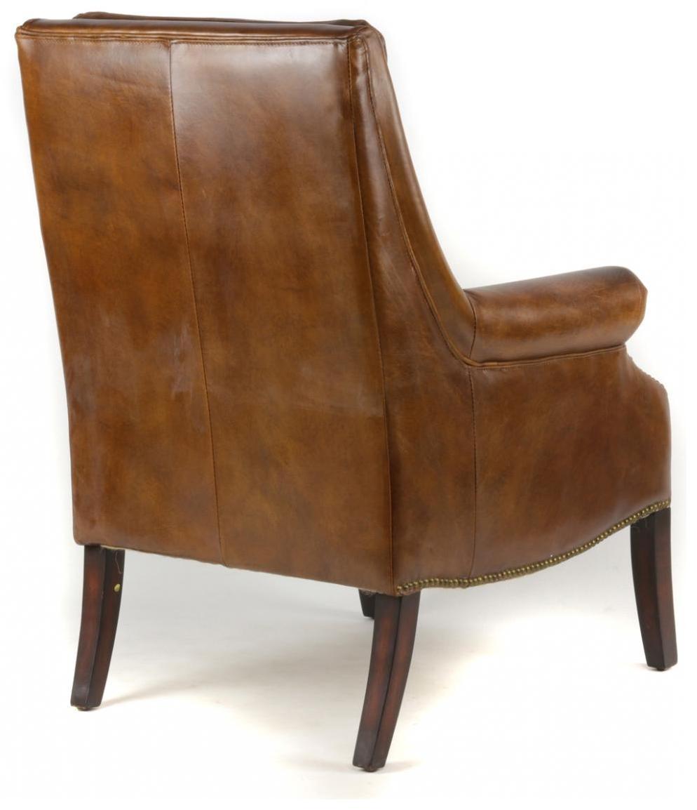 Echtleder Sessel Retro Sessel klassisch französisch