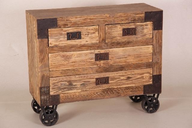 industrial kommode mit 4 schubladen. Black Bedroom Furniture Sets. Home Design Ideas