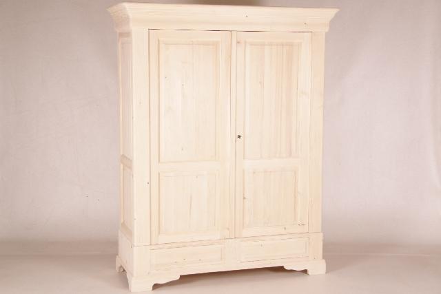 kleiderschrank 2 t rig unbehandelt. Black Bedroom Furniture Sets. Home Design Ideas