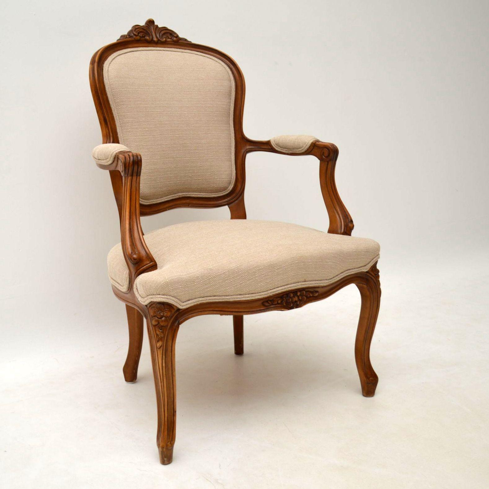 paar antike franz sische salon sessel. Black Bedroom Furniture Sets. Home Design Ideas