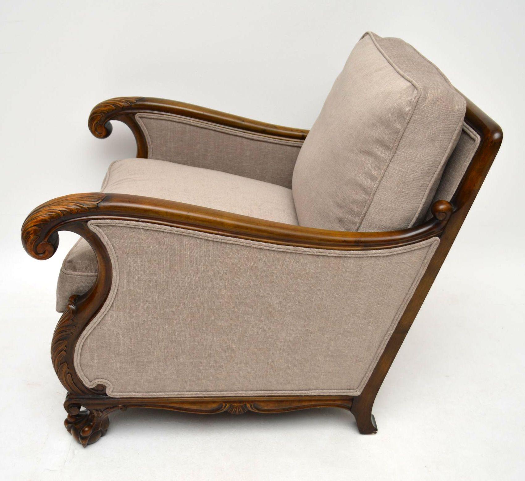 gro es paar antike schwedische satin birkenst hle sessel. Black Bedroom Furniture Sets. Home Design Ideas