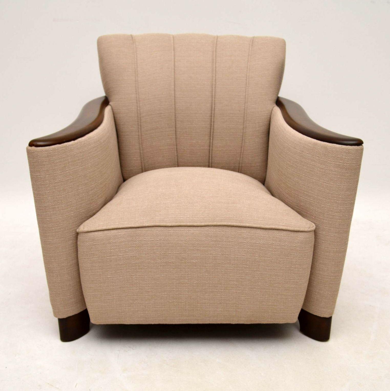 paar art deco schwedischer satin birch sessel. Black Bedroom Furniture Sets. Home Design Ideas