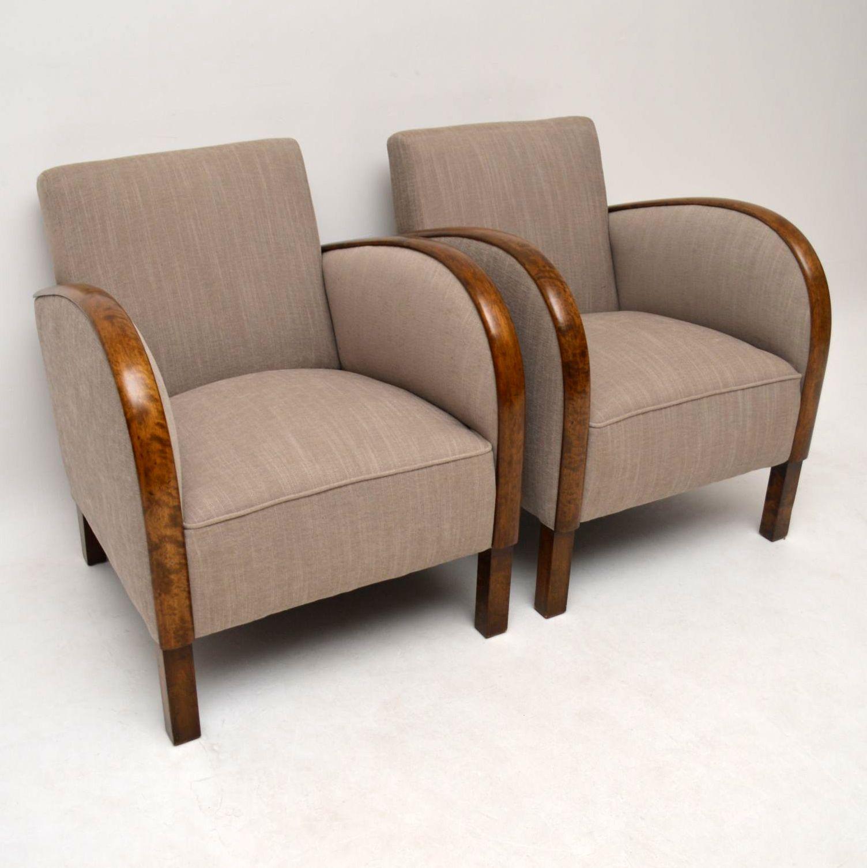 paar schwedische art deco satin birke sessel. Black Bedroom Furniture Sets. Home Design Ideas