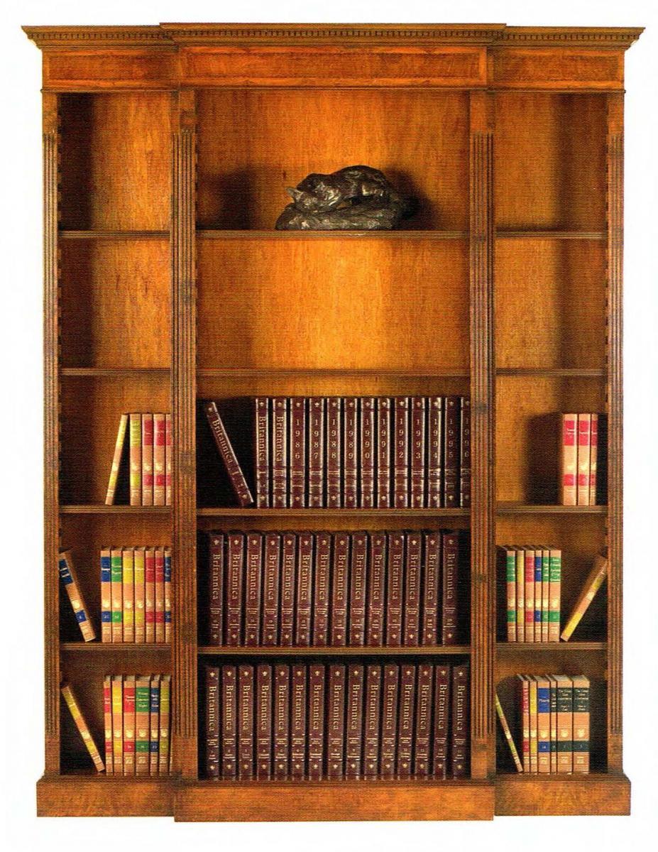 Open Breakfront Bookcase\\\