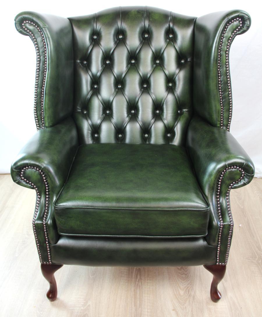 Wing Chair Chesterfield Morris Antik