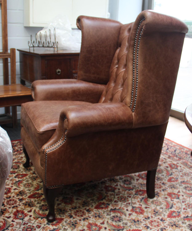 ohrensessel lederpolsterm bel original anilinleder. Black Bedroom Furniture Sets. Home Design Ideas