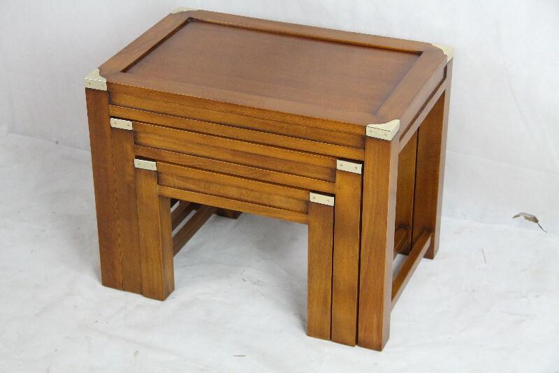 massiver tischsatz marine stil art deco vintage. Black Bedroom Furniture Sets. Home Design Ideas
