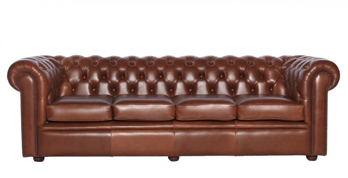 chesterfield sofa original william viersitzer englisches ledersofa. Black Bedroom Furniture Sets. Home Design Ideas