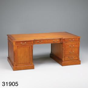 Schreibtisch - Executive Partner Desk Leder Top