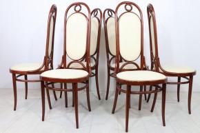 6er Satz originale Thonet Stühle aus massivem Buchenholz
