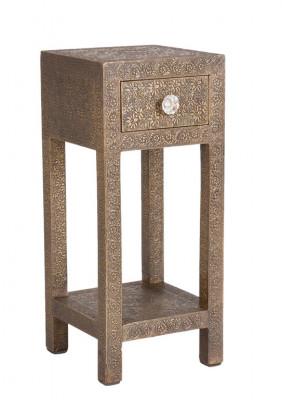 "Telefontisch ""Brass""  ca. 30 x 30 x 90 cm"