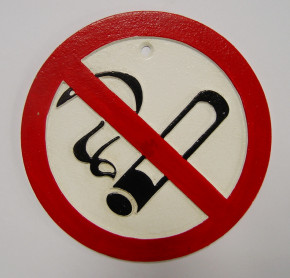 "Deko Schild ""No smoking"""