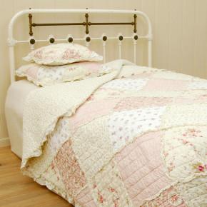 Tagesdecke Rosa/Weiß 140x220