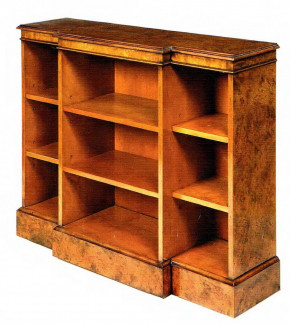 Conway Breakfront Open Bookcase Bücherschrank