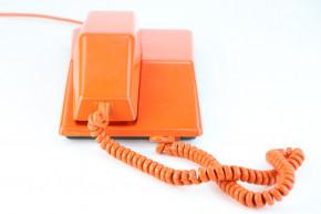 Retrotelefon Orange Original