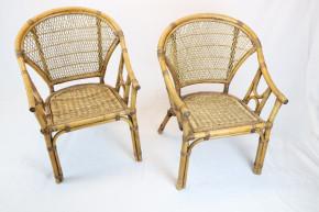 Stuhl geflochten Set:2 Ratanstühle Vintage 70er