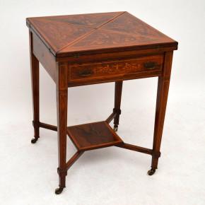 Antiker viktorianische Spieltisch Rosewood