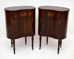 Antikes Paar Nachtschränkchen Tische