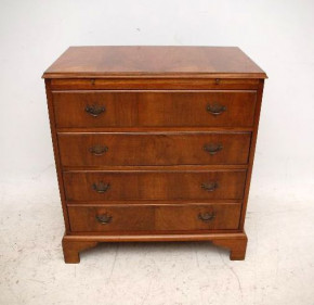 Antique Figured Walnut Bachelor's Chest