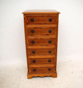 Slim Antique Georgian Style Yew Wood Chest of Drawers