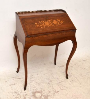 Antique Inlaid Rosewood Writing Bureau