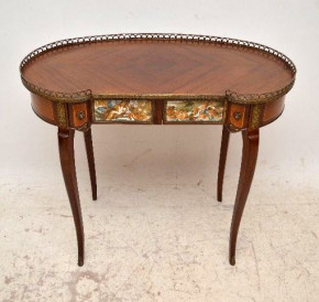 Antique French Style Kingwood Kidney Shaped Writing Table/Desk or Dressing Table