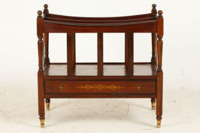 Antique Canterbury Magazine Rack