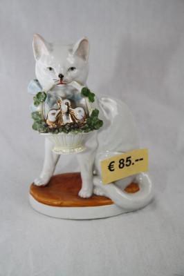 Porzellanfigur Katze