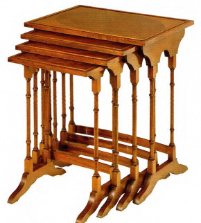 Nest of Tables Inlaid Nest 4-teilig