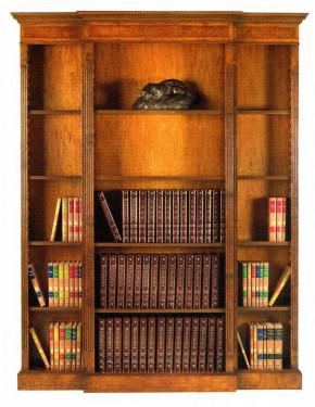 Open Breakfront Bookcase Bücherschrank groß