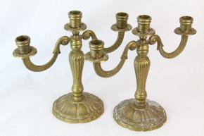 Kerzenständer Paar Messing France Antik