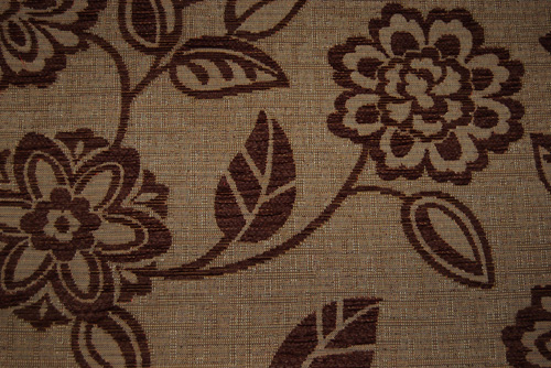 Stoff Floral - Brown