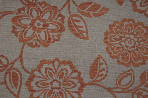 Stoff Floral - Terracotta