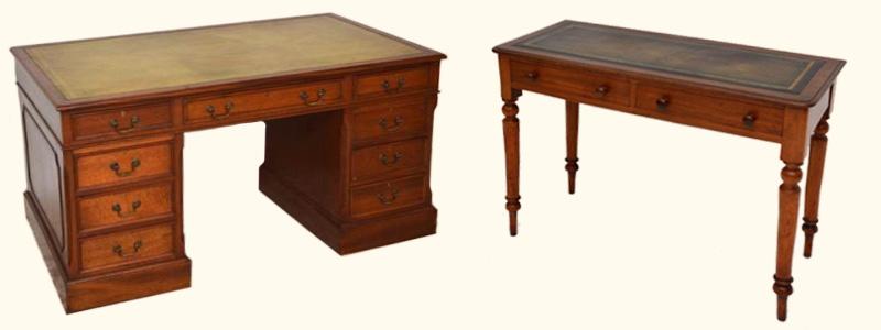 Schreibtisch holz dunkel  Englische Schreibtische aus Mahagoni und Eibe